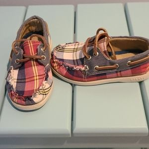 Sperry boat/dock shoe Red/Navy Plaid